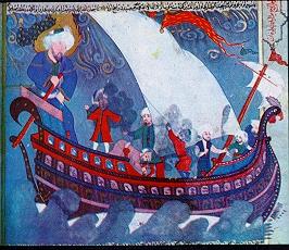 صورة لسفينة نوح (ع) من كتاب زبدة التواريخ
