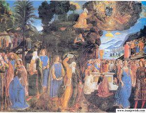 سرگردانی یهود در بیابان. تابلو فرش.jpg