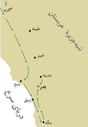 سرزمین بدر کا نقشہ