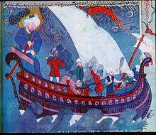 کتاب زبدہ التواریخ میں کشتی نوح کی تصویر