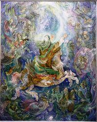 تابلوی معراج پیامبر محمود فرشچیان یکی از مهمترین و معروفترین نقاشان و نگارگران ایرانی است. ابعاد تابلو ۱۰۱* ۸۱.۵ سانتی متر است و کشیدن آن حدود یک سال و نیم طول کشیده است. این تابلو به موزه آستان قدس رضوی اهدا شده است.