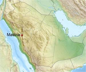 Localización de Medina en Arabia