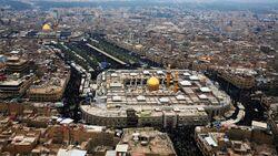 تصویری هوایی از شهر کربلا.jpg